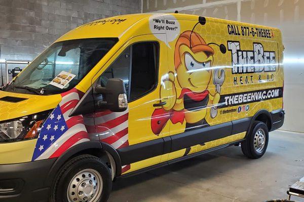 Vehicle wrap for a Denver business
