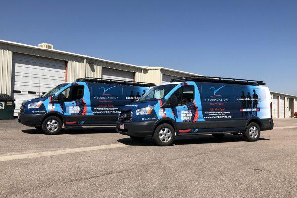 Fleet vehicles with new wraps