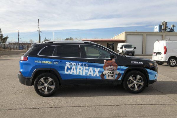 SUV with a custom wrap