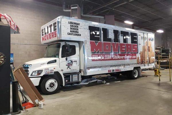 Moving company vehicle wrap
